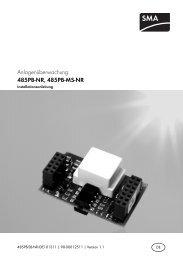 485PB-NR, 485PB-MS-NR - SMA Solar Technology AG