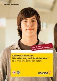 Kauffrau/Kaufmann Dienstleistung und Administration - Die Post