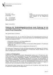Kommunikation zur Änderung der Sonderpädagogik-Verordnung ...