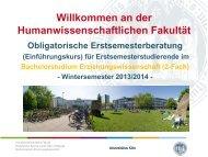 2-Fach Bachelor Erziehungswissenschaft - Humanwissenschaftliche ...