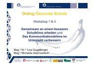 Workshop 1 & 3_Schulklima - Gesunde Schule