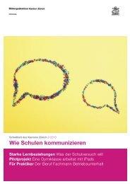 Wie Schulen kommunizieren - Bildungsdirektion - Kanton Zürich