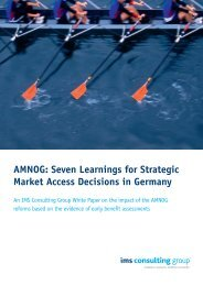 AMNOG: Seven Learnings for Strategic Market Access Decisions in ...