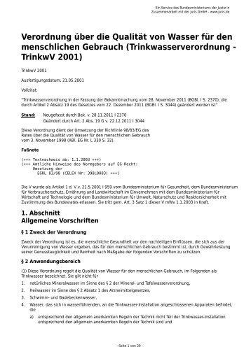 TrinkwV (pdf, 144 KB)