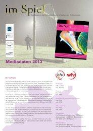 Mediadaten 2013 - im Spiel