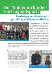 Beitrags aus SportPraxis 1+2 2012 - im Spiel