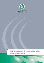 DFB-Empfehlungen für Kunststoffrasenplätze Fragen und Antworten
