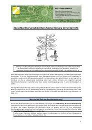 Geschlechtersensible Berufsorientierung im Unterricht - IMST