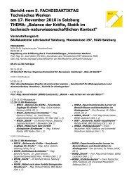 Bericht vom Fachdidaktiktag 2010 Technisches Werken - IMST