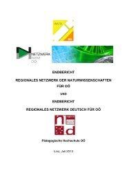 Jahresbericht des RN Oberösterreich 2012/13 - IMST