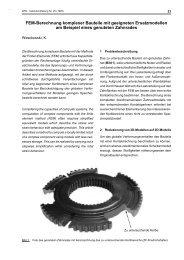 FEM-Berechnung komplexer Bauteile mit geeigneten ...