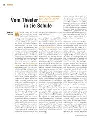 Vom Theater in die Schule - Die Deutsche Bühne