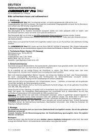 CHROMOFLEX ® Pro DALI - Barthelme GmbH & Co. KG