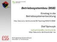 Betriebssystembau (BSB): 02-Entwicklung - Embedded System ...