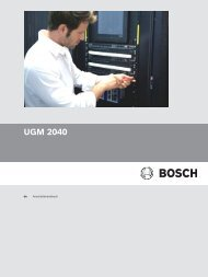 UGM 2040 - Bosch Security Systems