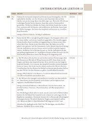 Menschen A2 Unterrichtsplan Lektion 13 - Hueber
