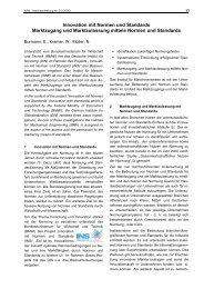 Innovation mit Normen und Standards - Institut für Maschinenwesen