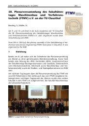 58. Plenarversammlung des Fakultäten- tages Maschinenbau und ...