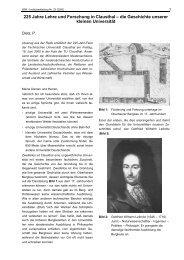 225 Jahre Lehre und Forschung in Clausthal - Institut für ...