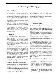 Modularisierung von Studiengängen - Technische Universität ...
