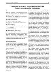Technische Ausrüstung, Kooperationsangebote und ...