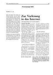 Pressespiegel 2004 - Institut für Maschinenwesen - TU Clausthal