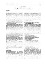 Heinen, F.: ERASMUS - Europaweite Hochschulkooperation