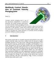 Multibody Contact Simula- tion of Constant Velocity Plunging Joint