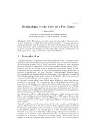 Mechanisms in the Core of a Fee Game 1 Introduction
