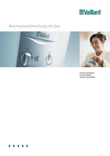 Warmwasserbereitung mit Gas
