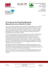 Fit im Alter auf der PFLEGE & REHA 2012 - Besuchen Sie ... - In Form