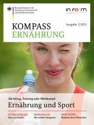 Kompass Ernährung - Ausgabe 1, 2013 - In Form