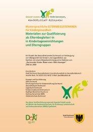 Materialien zur Qualifizierung als Elternbegleiter/-in in ... - In Form