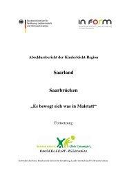 """Abschlussbericht """"Mehr bewegen in KiTa und Schule - In Form"""