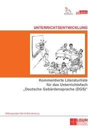 """Kommentierte Literaturliste für das Unterrichtsfach """"Deutsche ..."""