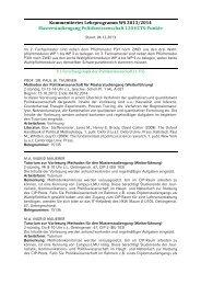 KVV Masterstudiengang Politikwissenschaft WS 2013/14