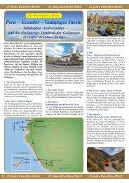 Peru – Ecuador – Galapagos Inseln - Reisebüro - Brück
