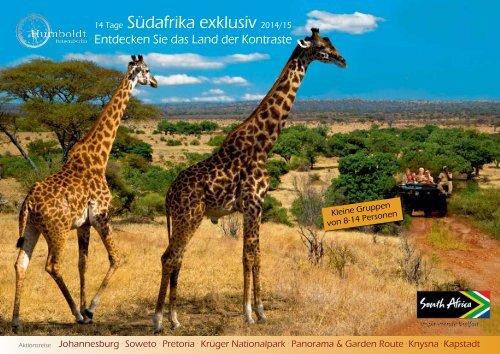 14 Tage Südafrika exklusiv 2014/15 - Humboldt Studienreisen