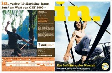 verlost 10 Slackline-Jump- Sets* im Wert von CHF 2000.– - IN-Media