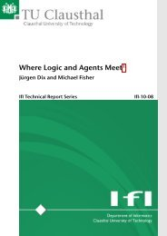Where Logic and Agents Meet - Institut für Informatik - TU Clausthal