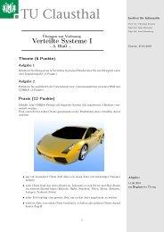 Verteilte Systeme I - Institut für Informatik