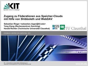 Zugang zu Föderationen aus Speicher-Clouds mit Hilfe von ...