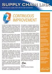 supply chain link continuous improvement - The Anisa Group