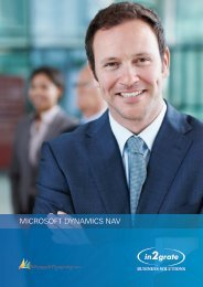 MICROSOFT DYNAMICS NAV - In2grate Business Solutions