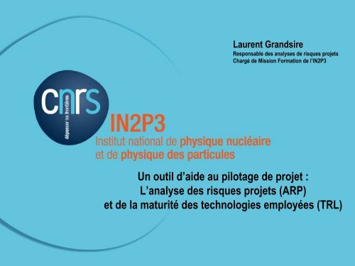 L'analyse des risques projets - IN2P3