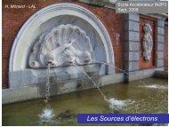 Sources d'électrons - IN2P3
