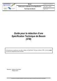 Guide pour la rédaction d'une Spécification Technique de ... - IN2P3