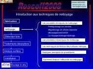 Introduction aux techniques de nettoyage - IN2P3