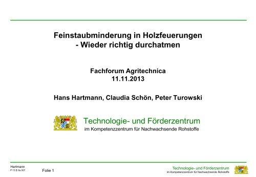 Technologie- und Förderzentrum ... - Agritechnica