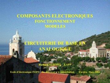 Composants: fonctionnement, modèles (Richard Hermel) - IN2P3